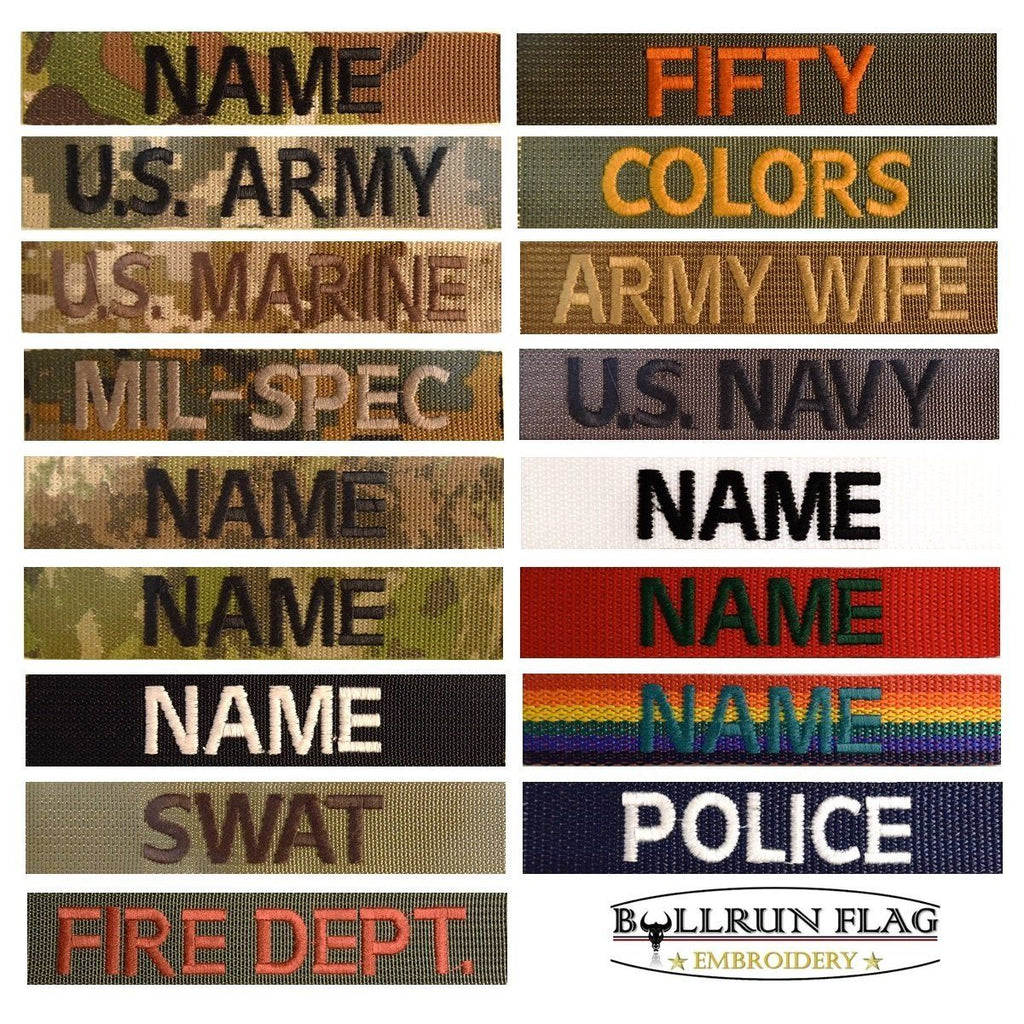 2d30c6424 ✓ Custom Military Name Tape ACU.. Hook Fastener/ Iron on FREE Shipping over  50$ – Bullrun Flag Embroidery