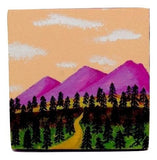 "P07 ""Rolling Mountains"" Small Canvas Painting Office Home Decoration"