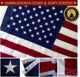 Embroidered American Flag by Bullrun Flag Embroidery