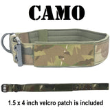 custom tactical dog collar camo 1.5 inch thick collar with usa flag