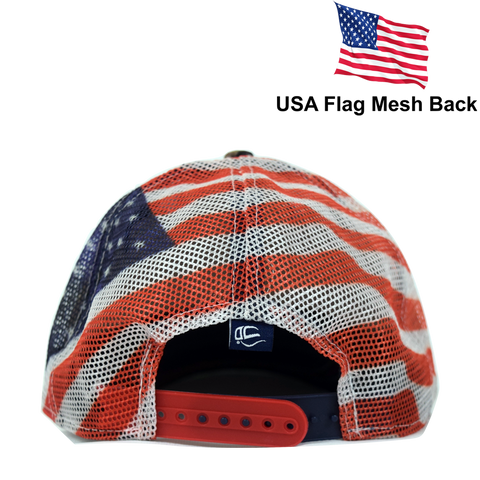 b046a4b2c Embroidered in USA Donald Trump 2020 MAGA Cap camo hat with american flag  Mesh Back