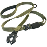 olive green kong fron leash tactical dog leash with cobra buckle tactical soft handle leash heavy duty tactical leash