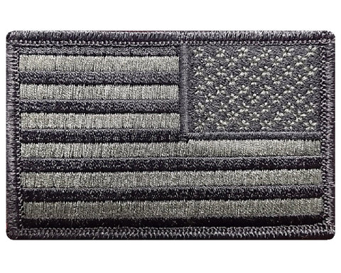 "V16 Reverse Tactical USA flag patch 2""x3"" Hook Fastener Olive Drab *Made IN USA* - Bullrun Flag Embroidery"