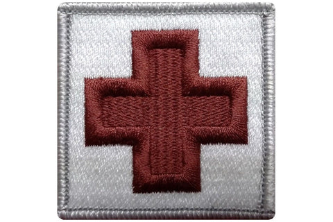 "V41 Tactical Medic Cross patch Emergency Medical Original White color 2""x2"" size hook fastener *Made in USA - Bullrun Flag Embroidery"