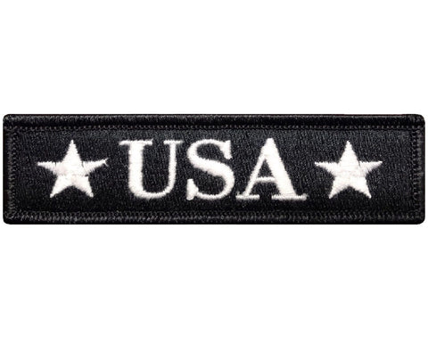 "V118 U.S.A USA Tactical morale patch Black & White 1""x3.75"" Hook Fastener Backing *Made in USA* - Bullrun Flag Embroidery"
