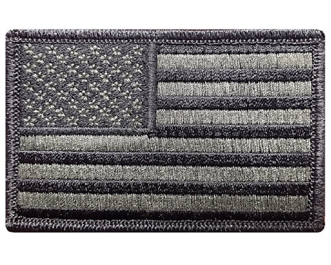 "V8 Tactical USA flag patch 2""x3"" hook fastener Olive Drab OD *Made in USA* - Bullrun Flag Embroidery"
