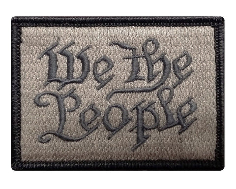 "V52 Tactical We The People Patch Coyote Brown 2""x3"" Hook fastener Back *Made in USA* - Bullrun Flag Embroidery"