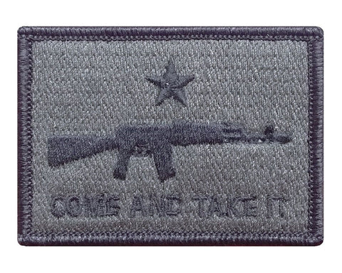"V53 Tactical Come and Take It Patch Olive Drab 2""x3"" Hook fastener Second Amendment *Made in USA* - Bullrun Flag Embroidery"