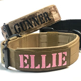 Personalized Tactical Dog Collar Custom Military Style dog Collar K9 Collar with 1.5x4 inch Name patch Embroidered Padded