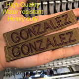 Custom Military Style NameTape Multicam OCP ACU ABU USMC NAVY Kryptek Arid Nomad Typhon Alpine Highlander Woodland Black Uniform Camo Hook Fastener & Iron on 1x5 inch Made in USA