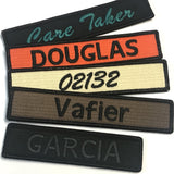 4inch-Custom Military Style Name Tape Tactical Patch - Hook Fastener/ Iron-on sew 100 colors_Made in USA