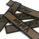 Custom Military Style Name Tape Tactical Patch (5 inch) - Hook Fastener / Iron-on sew 100 COLORS_*MADE IN USA*