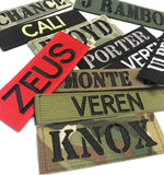 1x4 inch Custom Military Style NameTape Multicam OCP ACU ABU USMC NAVY Kryptek Arid Nomad Typhon Alpine Highlander Woodland Black Uniform Camo Hook Fastener & Iron on