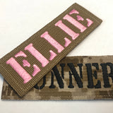 1.5 x 4 inch Custom Military Style NameTape Multicam OCP ACU USMC NAVY Marine Woodland Black Uniform Camo Hook Fastener & Iron Tactical Name Patch (Upto 2 lines)