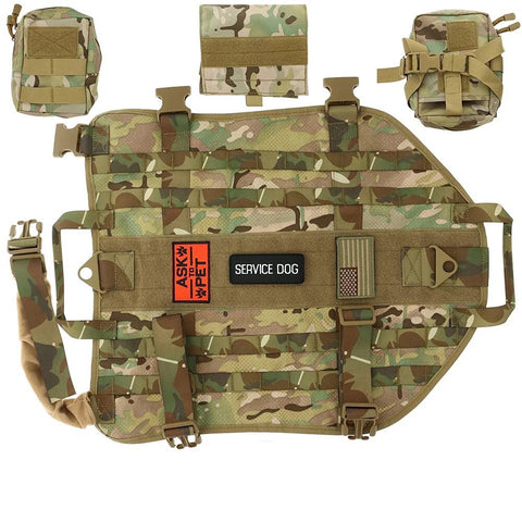 Tactical Dog Vest Military molle Vest with pouches