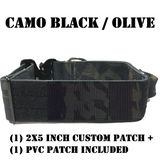 2 inch Personalized Tactical Dog Collar  with handle Custom embroidered K9 Collar with USA Flag Camo Thick Service collar for Large Breed Dog camo black olive