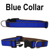 Custom dog Collars Personalized Embroidered dog collars with Name 1 inch  Blue