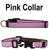 Custom dog Collars Personalized Embroidered dog collars with Name 1 inch Pink