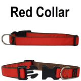 Custom dog Collars Personalized Embroidered dog collars with Name 1 inch  Red