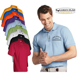 Custom Embroidered Logo / Text on Polo Shirt Gildan - Ultra 100% Cotton® Pique Sport Men's Shirt No Minimum No Setup Fee