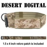 custom tactical k9 dog collar personalized camo collar with american flag tan color