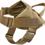 Tactical k9 dog harness vest brown thick big