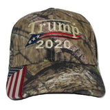 Embroidered in USA Donald Trump 2020 MAGA Cap camo hat with american flag Mesh Back