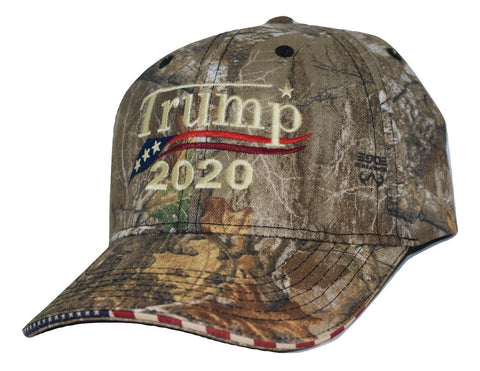 e597baa5496 ... Embroidered in USA Donald Trump 2020 Camo hat realtree cap with  american flag sandwich sewn ...