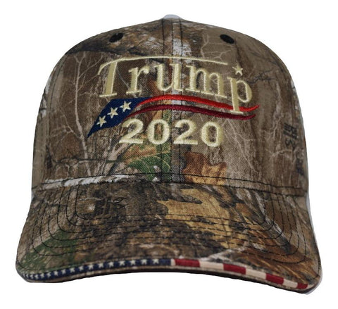 74c85ecb85 ... Embroidered in USA Donald Trump 2020 Camo hat realtree cap with  american flag sandwich sewn ...