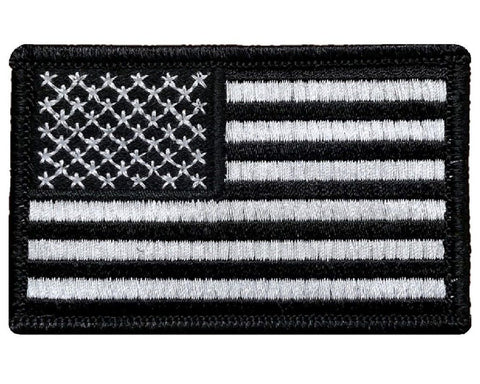 V2 USA Flag Patch Hook Fastener Backing (Black & White) *Made in USA* (Premade)