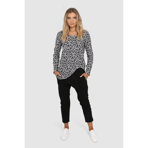 Olympia Top - Grey Leopard