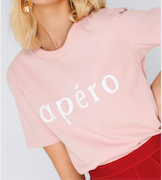 Apero Printed Tee - Dusty Pink