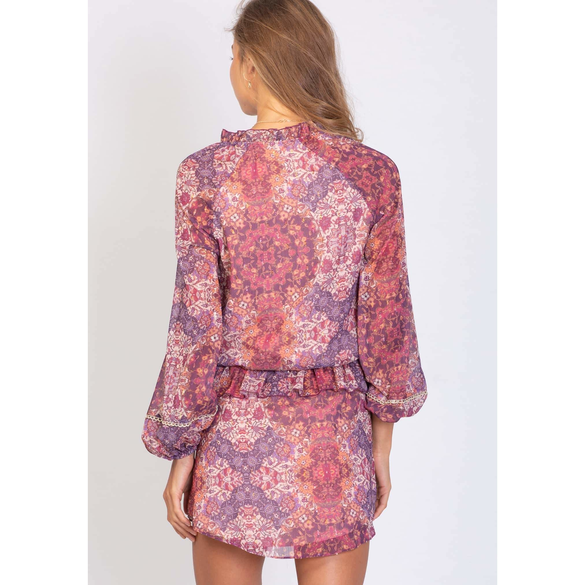 Jewel Baroque Scandal Dress - Jewel Baroque Print