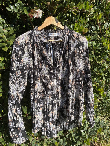 Floral Blouse - Black