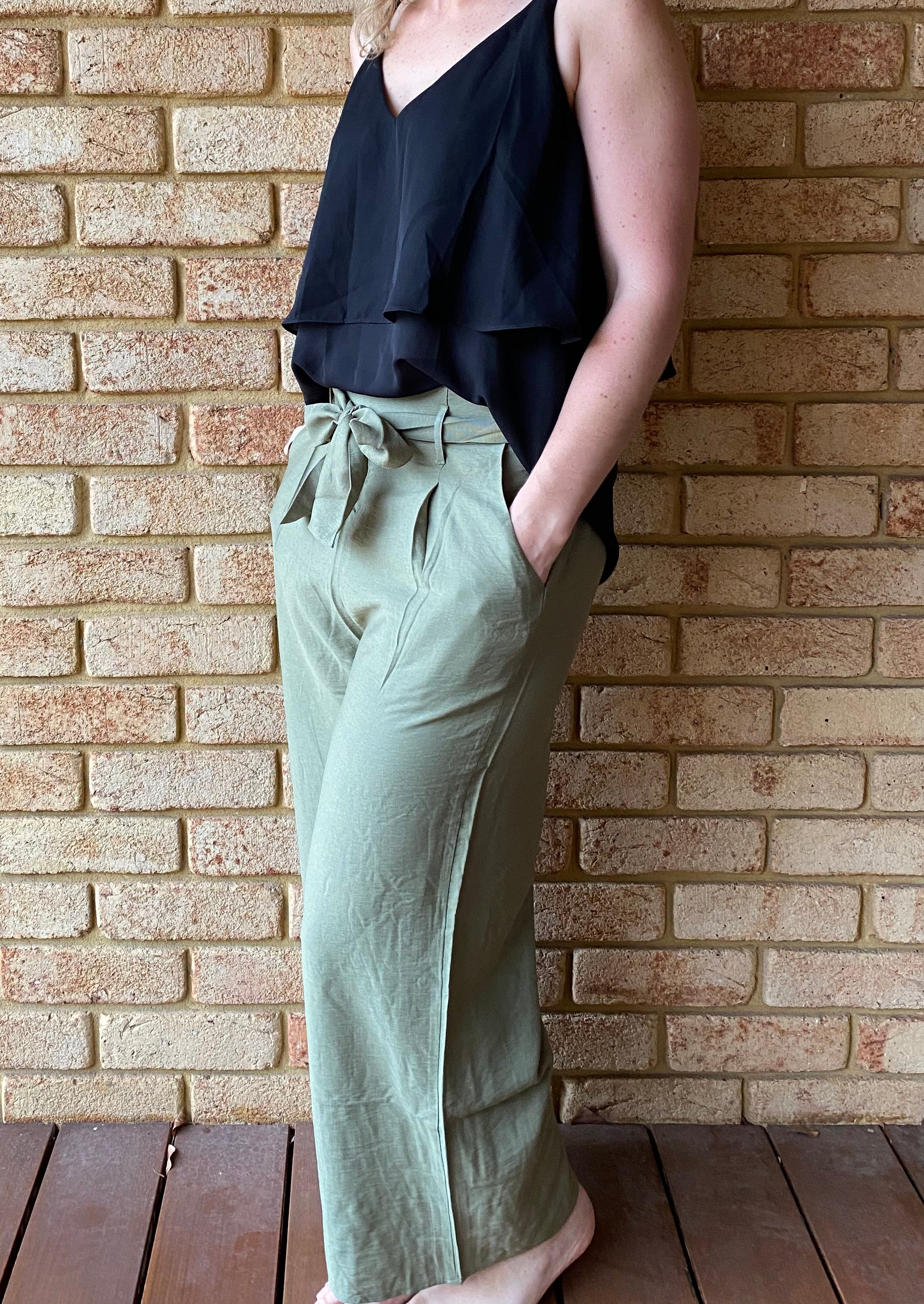Olive Green Culottes