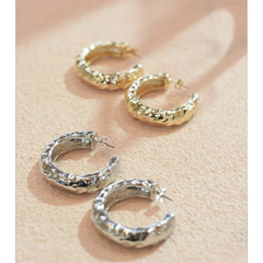 Angelina Hoops - Gold