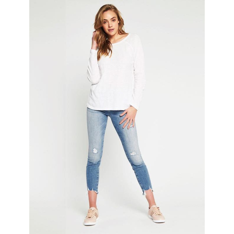 Leah Long Sleeve Tee - White