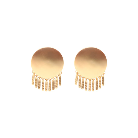 Sofia Statement Earrings - Matte Gold