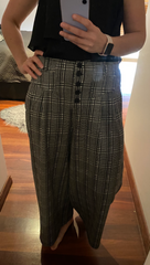 Check Patterned Culottes - Black