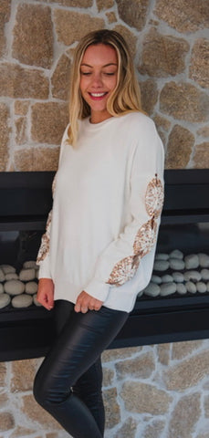 Savannah White Jumper