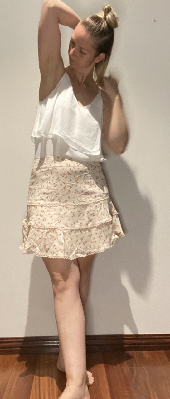 Apero - A Walk in Time Frill Skirt