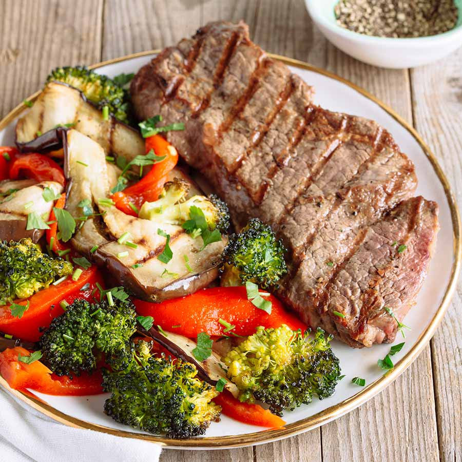 BBQ Steak with Delicious Grilled Vegetables 3