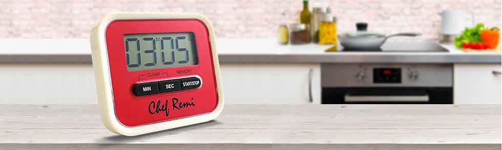 Digital Kitchen Timer with Loud Alarm available at Chefremi.com