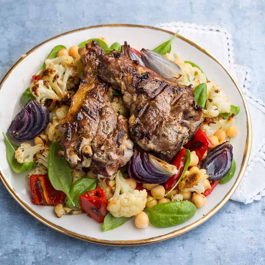 Grilled Lamb Chops with Warm Salad 3