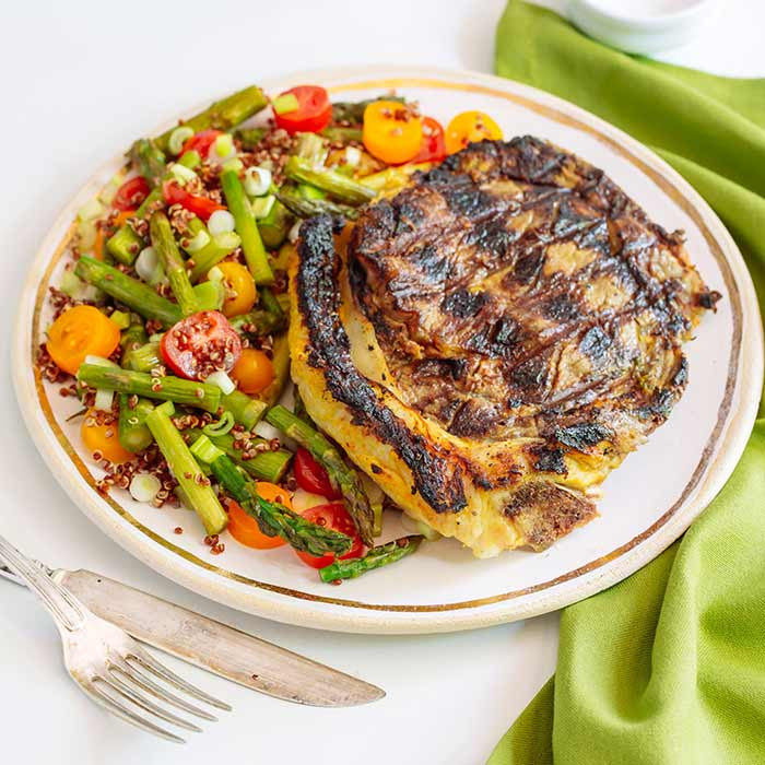 Tandory Steaks with Asparagus Quinoa Salad 3