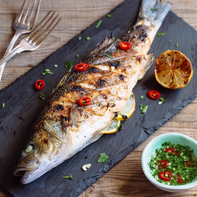 Whole Grilled Sea Bass with Chimichurri Sauce 3