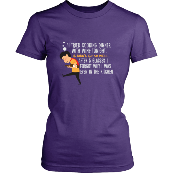 Women's Tee - Cooking with Wine