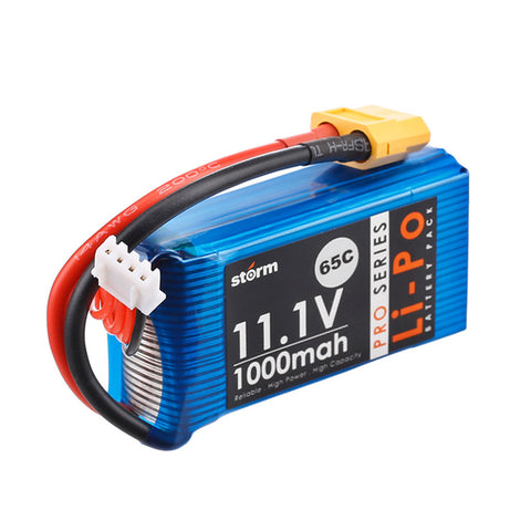 Storm 11.1V 1000mAh Pro Series Li-Po Battery