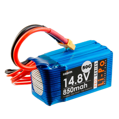 Storm 14.8V 850mAh Pro Series Li-Po Battery