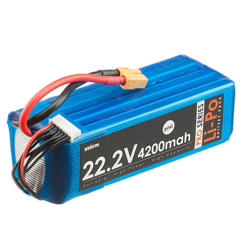Storm 22.2V 4200mAh Pro Series Li-Po Battery